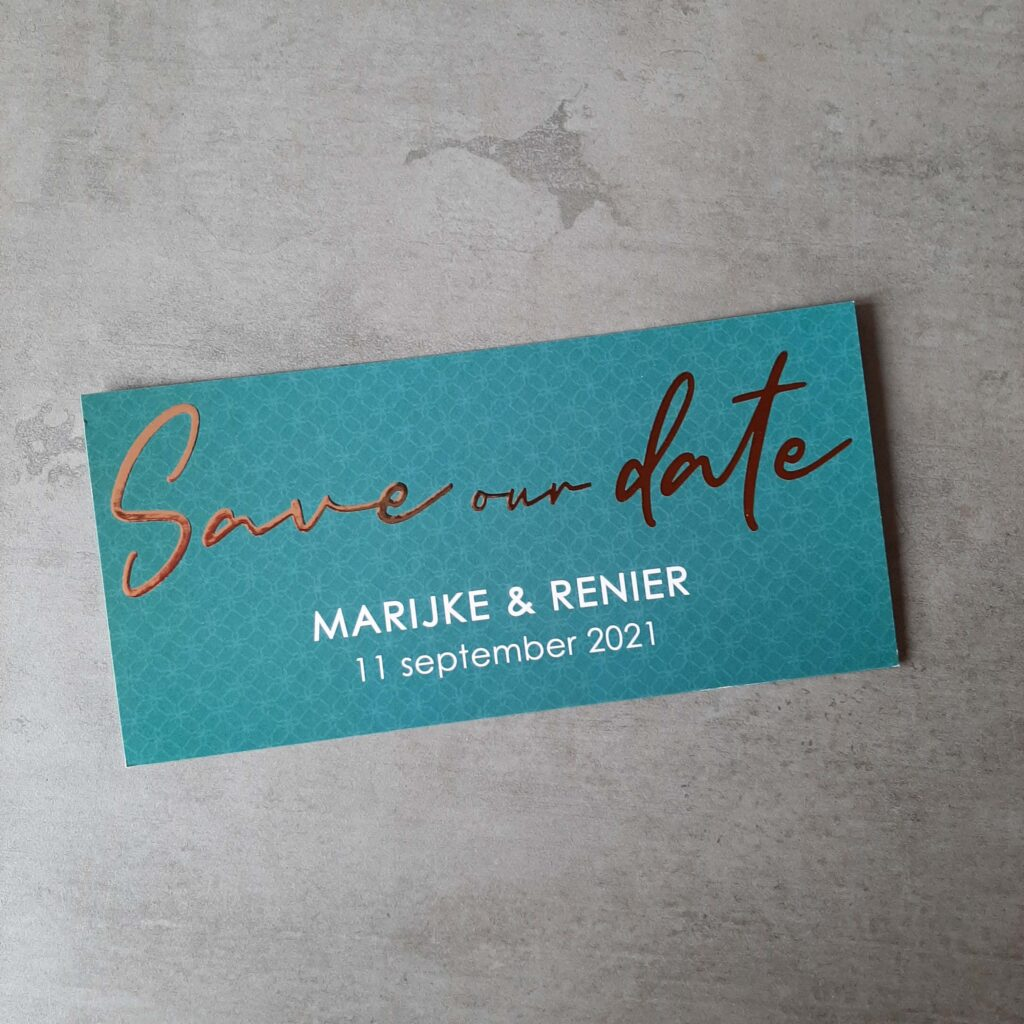 Save our date M&R